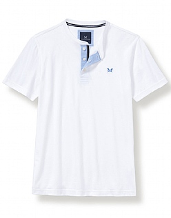 Harwood Henley T-Shirt In White