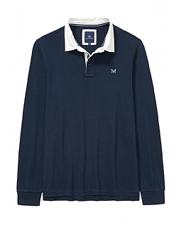 Heritage Patch Rugby Shirt In Navy