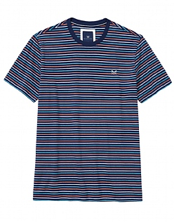 Brean Stripe T-Shirt In Heritage Navy