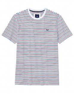 Brean Stripe T-Shirt In Optic White
