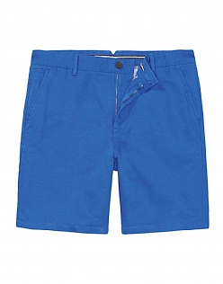 Bouley Linen Shorts In Marine Blue