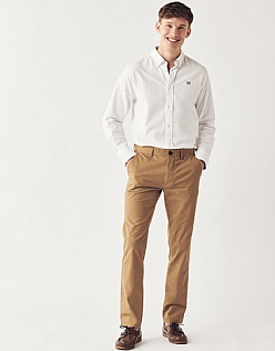 Slim Fit Chino In Tan