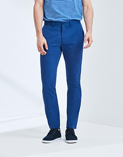 Summer Slim Chino In Strong Blue