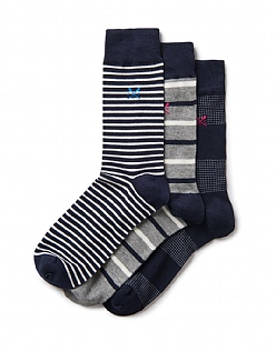 3 Pack Stripe Bamboo Socks