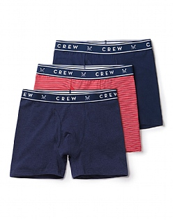 3 Pack Plain/Stripe Boxers
