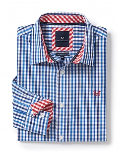 Crew Classic Fit Gingham Shirt in Lapis Blue