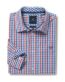 Crew Classic Fit Gingham Shirt in Crimson
