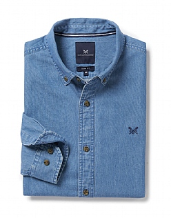 Darwell Slim Fit Shirt in Denim Blue
