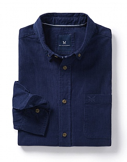 Cord Classic Fit Shirt in Heritage Navy
