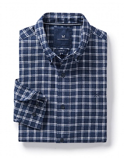Naseby Slim Fit Check Shirt in Heritage Navy