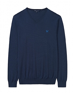 Summer Foxley V Neck Jumper in Heritage Navy