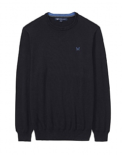 Foxley Crew Neck Jumper in Black