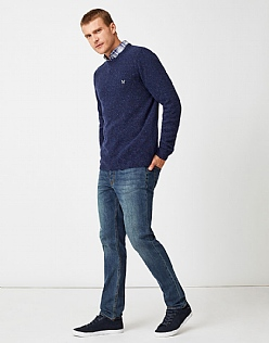Swithland Nepp Crew Neck Jumper in Navy