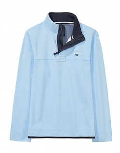 Padstow Pique Sweatshirt in Cool Blue