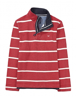 Padstow Pique Sweatshirt in Crimson