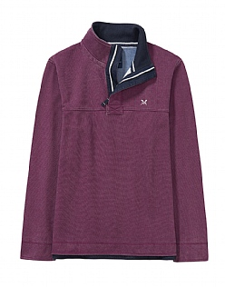 Padstow Pique Sweatshirt in Washed Plum