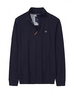 French Rib Sweatshirt in Dark Navy