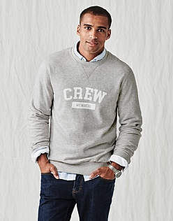Varsity Crew Sweat in Grey