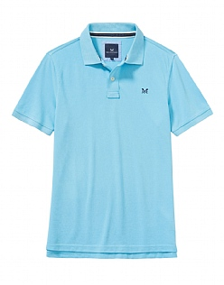 Classic Pique Polo Shirt in Topaz Blue