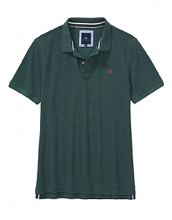 Classic Pique Polo Shirt in Bottle Green Marl
