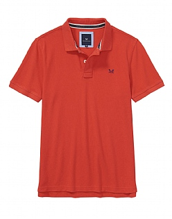 Classic Pique Polo Shirt in Flame Red