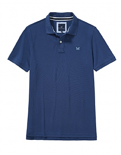 Classic Pique Polo Shirt in Indigo Blue