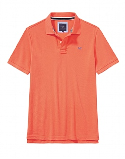 Classic Pique Polo Shirt in Papaya