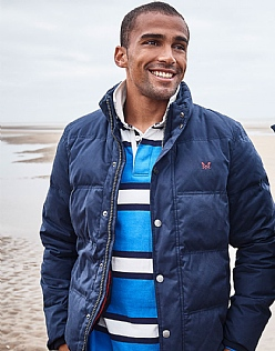 Varsity Stripe Rugby Shirt in Lapis Blue