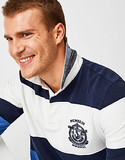 Langstone Rugby Shirt in Heritage Navy