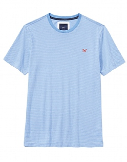 Fine Stripe T-Shirt in Sky Blue