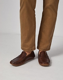 Ashbury Moccasins In Dark Tan