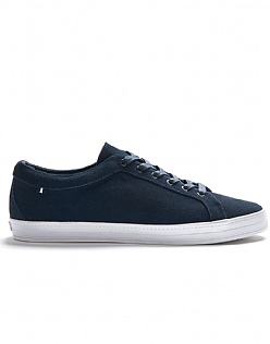 Wilmont Suede Trainers in Navy