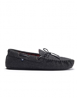 Quaker Moccasin in Charcoal Grey
