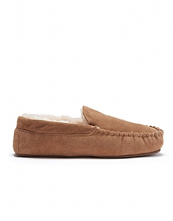 Sheepskin Moccasin in Tan