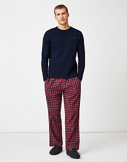 Sunday Lounge Trouser in Crimson Check