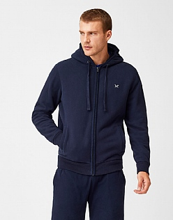Ellingham Zip Hoody in Dark Navy
