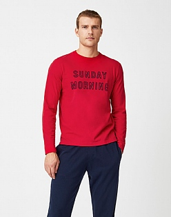 Sunday T-Shirt in Crimson Red