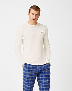 Belmont Long Sleeve Pyjama T-Shirt in White