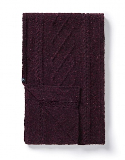Cable Scarf in Damson
