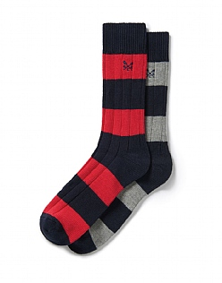 2 Pk Rugby Socks in Red