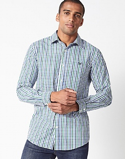 Crew Classic Fit Gingham Shirt in Green