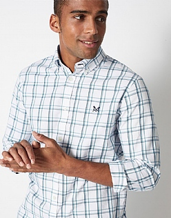 Millom Check Classic Fit Shirt in Cove Blue