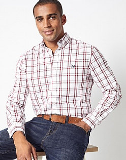 Millom Check Classic Fit Shirt in Red