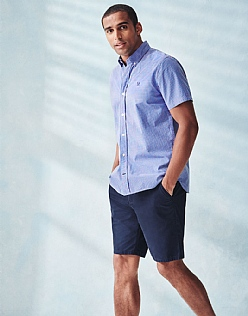 Two Tone Check Short Sleeve Shirt