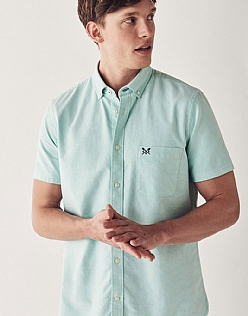 Crew Classic Fit Short Sleeve Oxford Shirt