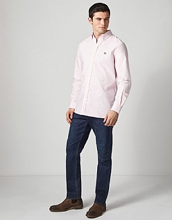 Crew Classic Fit Oxford Shirt in Classic Pink