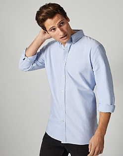 Crew Classic Fit Oxford Shirt in Sky Blue