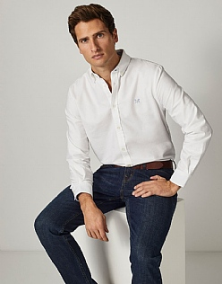 Crew Classic Fit Oxford Shirt in White