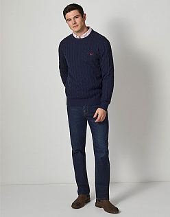 Regatta Cable Crew Neck Jumper in Navy