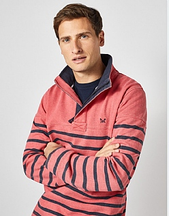 Padstow Pique Sweat in Spiced Coral